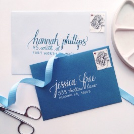 Hand lettered envelope addressing