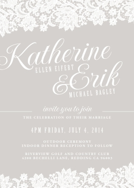 Wedding invitation design for Kate and Erik Bagley