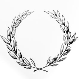 Hand drawn olive wreath