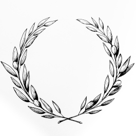 Hand drawn olive wreath