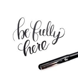 Brush lettering with Pentel brush pen.