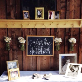 Guestbook and wedding decor design